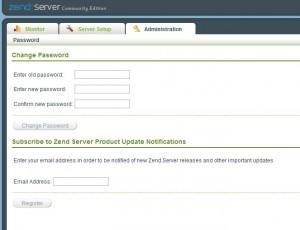Zend Server Administration