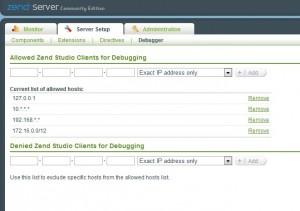 Zend Server Setup Debugger