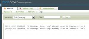 Zend Server Monitor Logs